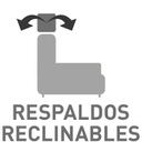 Respaldos reclinables