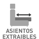 Asientos extraibles